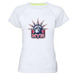 Женская спортивная футболка New York Rangers - FatLine