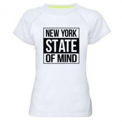 Женская спортивная футболка New York state of mind