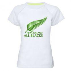 Женская спортивная футболка new zealand all blacks - FatLine