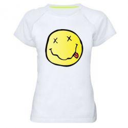 Женская спортивная футболка Nirvana Logo 3D - FatLine