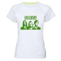 Женская спортивная футболка Nirvana (Нирвана)
