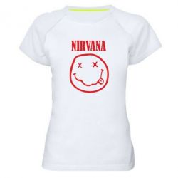 Жіноча спортивна футболка Nirvana (Нірвана) - FatLine