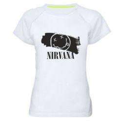 Женская спортивная футболка Nirvana Smile - FatLine