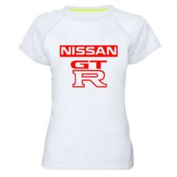 Женская спортивная футболка Nissan GT-R - FatLine