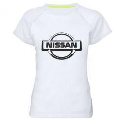 Женская спортивная футболка Nissan Logo
