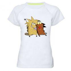 Женская спортивная футболка Норберт и Деггет - FatLine