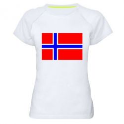Женская спортивная футболка Норвегия - FatLine