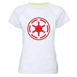 Женская спортивная футболка Новый герб Империи - FatLine