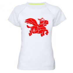 Женская спортивная футболка Осел-курьер (Dota 2)