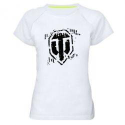Женская спортивная футболка Отпечаток гусениц WOT - FatLine