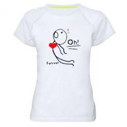 Женская спортивная футболка Our love story - FatLine