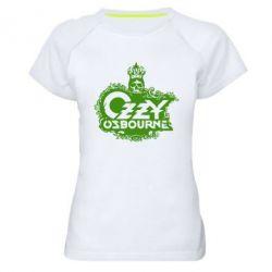 Женская спортивная футболка Оззи Озборн - FatLine