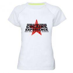 Женская спортивная футболка Pablo Escobar - FatLine