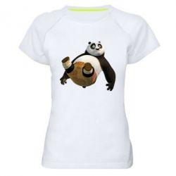 Женская спортивная футболка Падающая Панда - FatLine