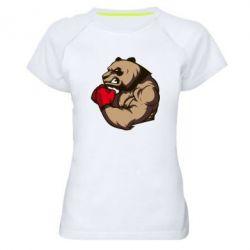 Женская спортивная футболка Panda Boxing - FatLine