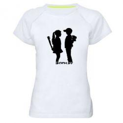 Женская спортивная футболка Пара Bancsy - FatLine