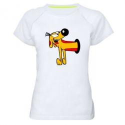 Женская спортивная футболка Пес