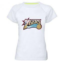 Женская спортивная футболка Philadelpia 76ers - FatLine