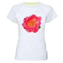 Женская спортивная футболка Пион