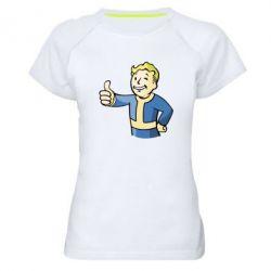 Женская спортивная футболка Pip boy fallout - FatLine