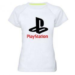 Женская спортивная футболка PlayStation - FatLine
