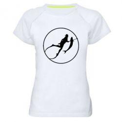Женская спортивная футболка Подводная охота - FatLine