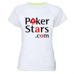 Женская спортивная футболка Poker Stars - FatLine