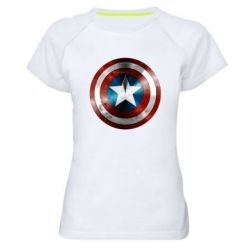 Женская спортивная футболка Потертый щит - FatLine