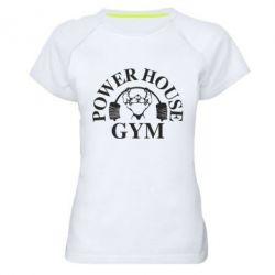 Женская спортивная футболка Power House Gym - FatLine