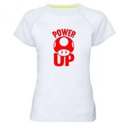 Женская спортивная футболка Power Up гриб Марио - FatLine