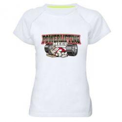 Женская спортивная футболка Powerlifting Meet - FatLine