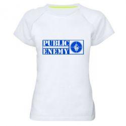 Женская спортивная футболка Public Enemy - FatLine