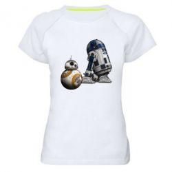 Женская спортивная футболка R2D2 & BB-8 - FatLine