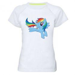 Жіноча спортивна футболка Rainbow Dash run - FatLine