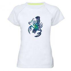 Женская спортивная футболка Рак звезды