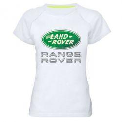 Женская спортивная футболка Range Rover Logo Metalic - FatLine