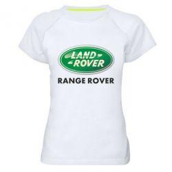 Женская спортивная футболка Range Rover - FatLine