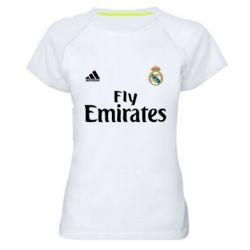 Женская спортивная футболка Реал - FatLine