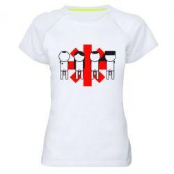 Купить Женская спортивная футболка Red Hot Chili Peppers Group, FatLine
