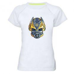 Женская спортивная футболка Робот bumblebee