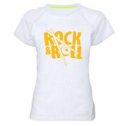 Женская спортивная футболка Rock&Roll - FatLine
