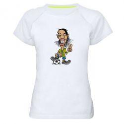 Женская спортивная футболка Ronaldinho - FatLine