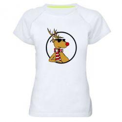 Женская спортивная футболка Рудольф - FatLine