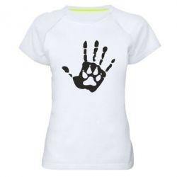 Женская спортивная футболка Рука волка - FatLine