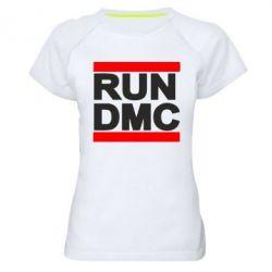 Женская спортивная футболка RUN DMC - FatLine