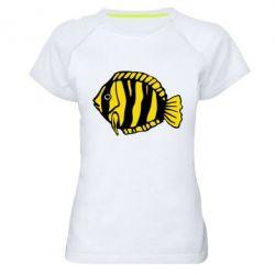 Женская спортивная футболка рыбка - FatLine