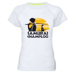 Женская спортивная футболка Samurai Champloo - FatLine