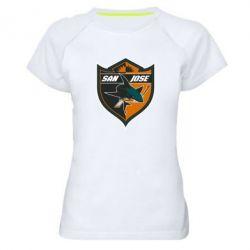 Женская спортивная футболка San Jose Sharks - FatLine
