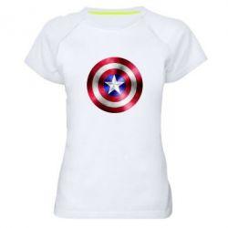 Женская спортивная футболка Щит кэпа - FatLine