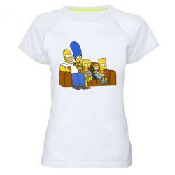 Женская спортивная футболка Семейство Симпсонов - FatLine